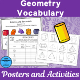 3-D Shapes Posters and Activities