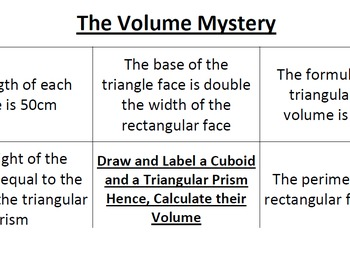 The Volume Mystery