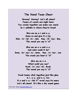 The Vowel Team Cheer