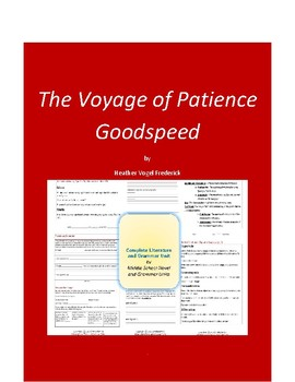 The Voyage of Patience Goodspeed Complete Literature and Grammar Unit