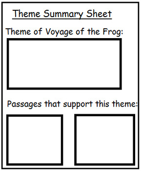 The Voyage of the Frog By Gary Paulsen Teacher Supplemental Resources