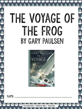 The Voyage of the Frog Comprehension Packet