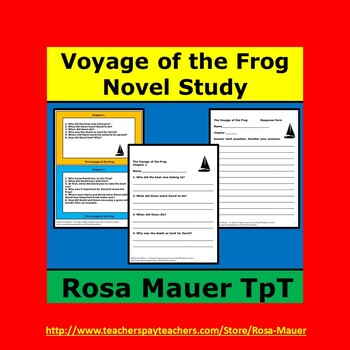 The Voyage of the Frog by Gary Paulsen Novel Study