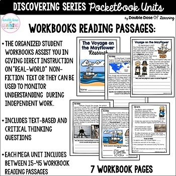The Voyage on the Mayflower Research with PowerPoint Unit