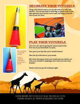 The Vuvuzela - Make + Play Your Own South African Stadium Horn
