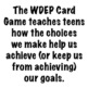 The WDEP Card Game: Decisions, Choices, Life Planning, Goal Setting