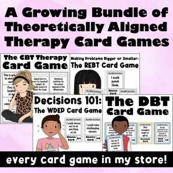 Save 30%! The WDEP & REBT Card Games Bundle: Goal Setting, Coping Skills