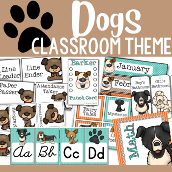 The WOOF Collection:  Dog-Themed Classroom Decor (MEGA PACK!)