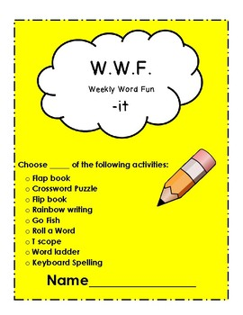 The WWF (Weekly Word Fun) Short I Words