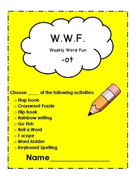 The WWF (Weekly Word Fun) Short O and E Words