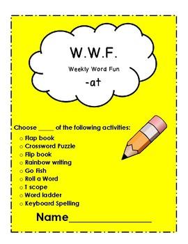 The WWF (Weekly Word Fun): Short Vowels