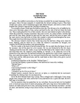 The Wake - An Irish Short Story