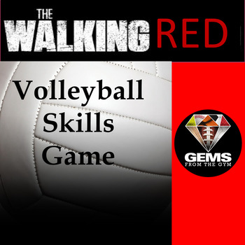 The Walking Red Volleyball Physical Education Skills Game!