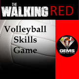 PE Game - The Walking Red Volleyball Physical Education Skills Game!