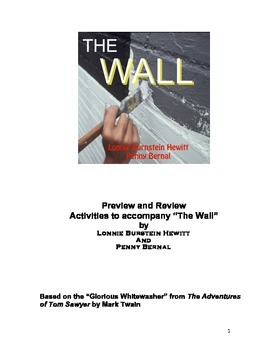 "The Wall: Previews and Reviews--Activities for the one-act play ""The Wall"""