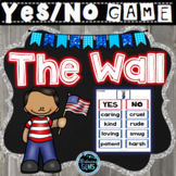The Wall by Eve Bunting Character Traits Game | Memorial Day Activity