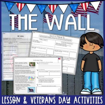 The Wall By Eve Bunting Lesson Plan And Veterans Day