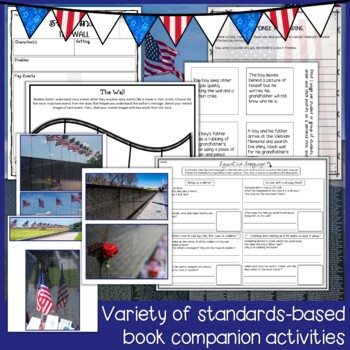 The Wall by Eve Bunting Lesson Plan and Veterans Day Activities