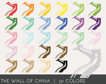 The Wall of China Digital Clipart, The Wall of China Graphics