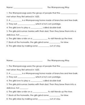 The Wampanoag Way video worksheet
