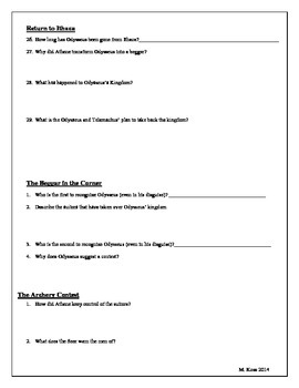 The Wanderings of Odysseus - Guided Reading