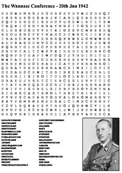 The Wannsee Conference Word Search