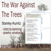 The War Against the Trees - Poetry Analysis & Paraphrasing