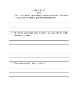 The War Below: Chapter-by-Reading Chapter Comprehension Questions