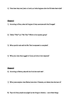 The War Between the Classes Comprehension Guide