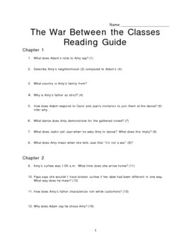 The War Between the Classes Study Guide