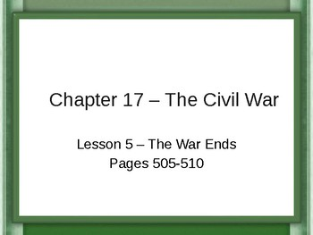 The Civil War - The War Ends PowerPoint