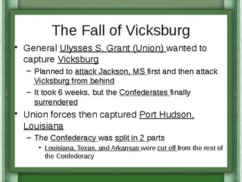 The Civil War - The War Ends PowerPoint