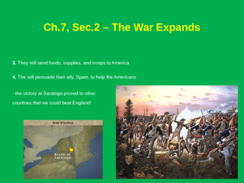 The War Expands - American Revolution