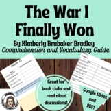 The War I Finally Won Comprehension Questions and Vocabulary Guide