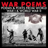 War Poems and Poets Presentation & Handouts Distance Learning
