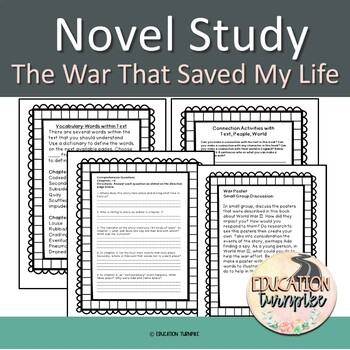 The War That Saved My Life Novel Study