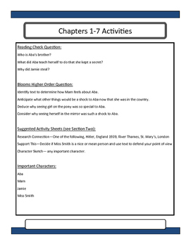The War That Saved My Life Novel Unit and Lesson Plans