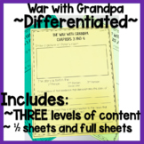 The War With Grandpa Novel Study - Half Sheets!