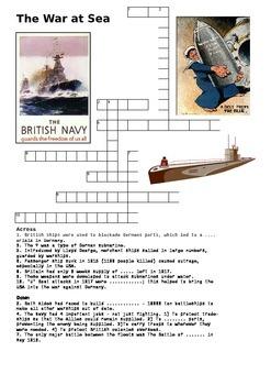 The War at Sea Crossword - World War One