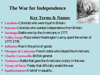 The War for Independence-Chp. 2, Sec.2