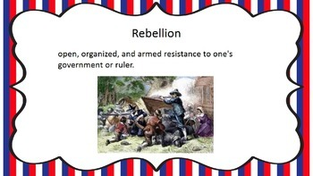 The War for Independence  Vocabulary TN CCSS 4.21-4.36
