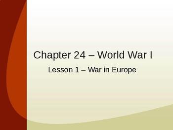 World War I - The War in Europe PowerPoint