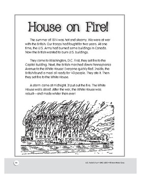 The War of 1812: Brits Burn White House: History and Activities for Grades 1-3
