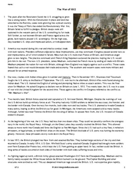 The War of 1812 - Grade 7