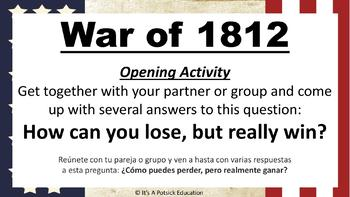 The War of 1812 - How Can You Lose, But Really Win - Project Based Learning Unit