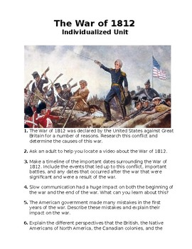 The War of 1812 - Individualized Unit