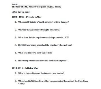 The War of 1812 Movie Guide *UPDATED*