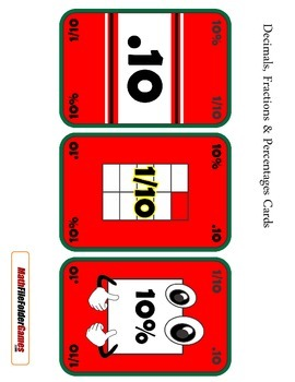 The War of Decimals, Fractions & Percentages Game