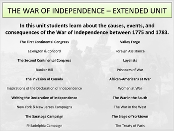 The War of Independence - Extended Unit