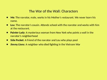 The War of the Wall prereading and vocabulary